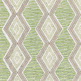 Nina Campbell Belle Ile Green / Beige Fabric - Product code: NCF4291-03