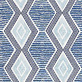 Nina Campbell Belle Ile Indigo / Blue Fabric
