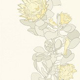Paint & Paper Library Protea Trail Clay / Yellow / Grey Wallpaper