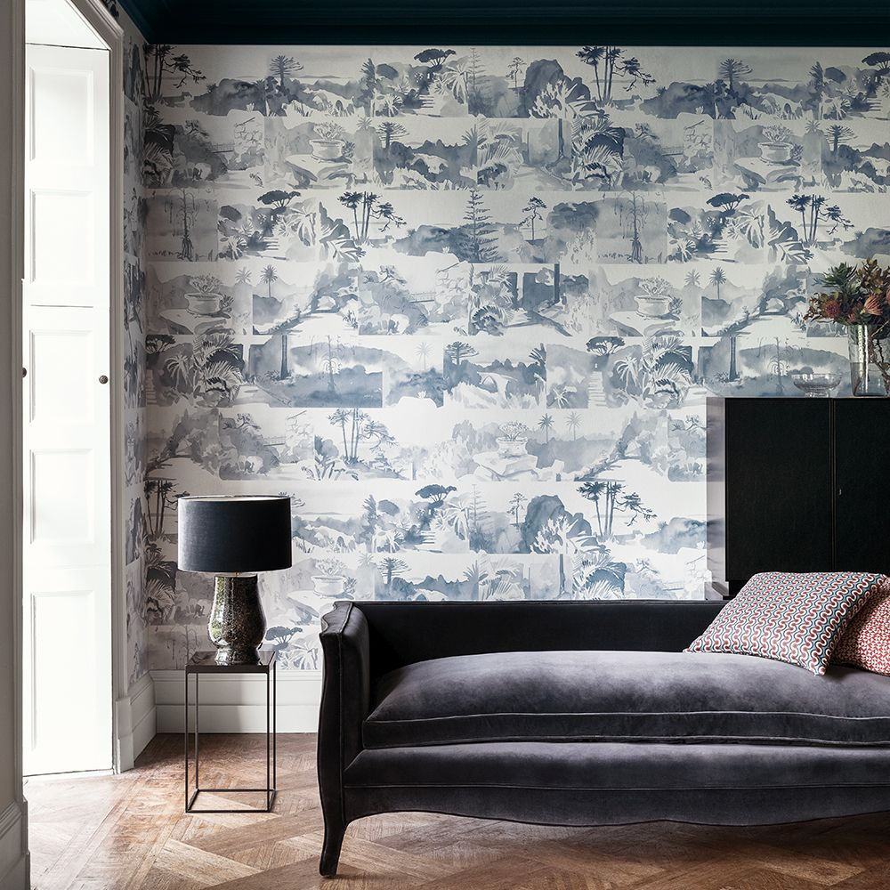 Paint & Paper Library Abbey Gardens Blue Blood Mural - Product code: 0393AGBLUEB