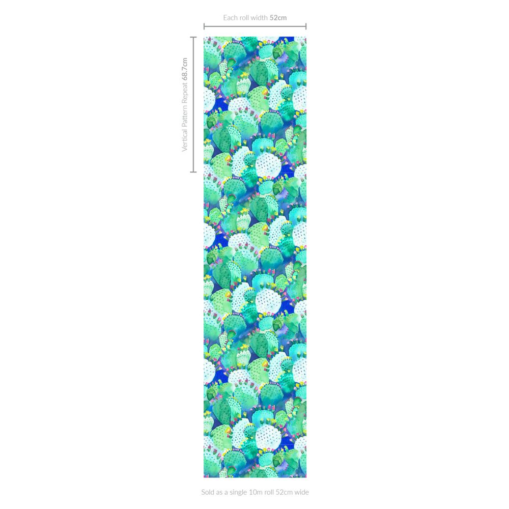 bluebellgray Cactus Green Wallpaper - Product code: WN016