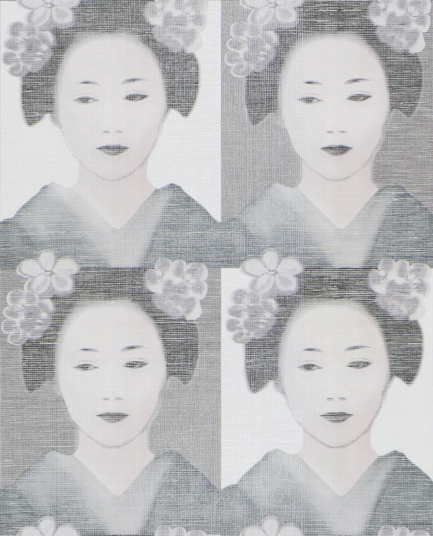 JAB Anstoetz  Osaka Pink / Black / Grey / Cream Wallpaper - Product code: 4-4086-070