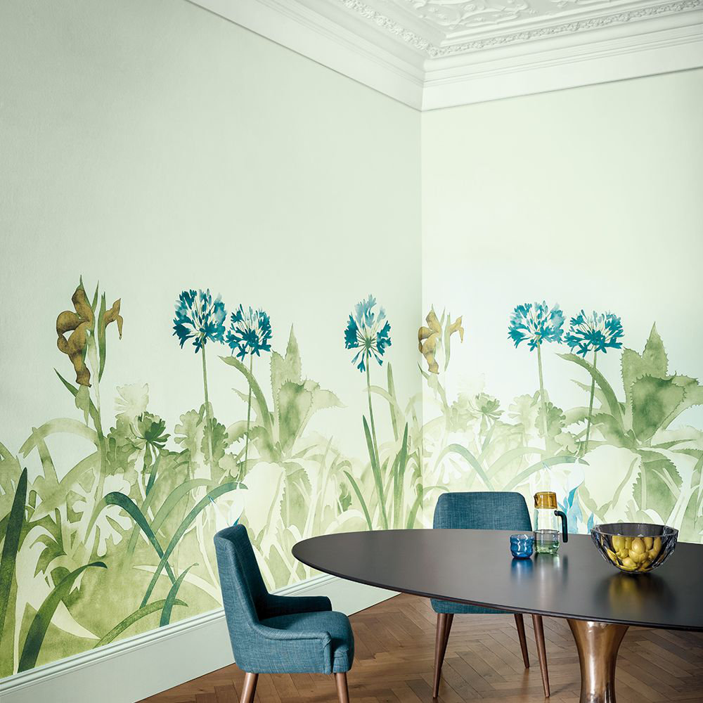 Aloe Walk Mural - Ice - by Paint & Paper Library