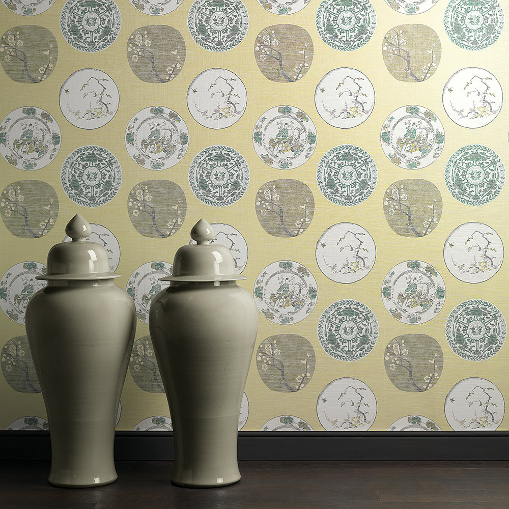 JAB Anstoetz  Okirai Green Wallpaper - Product code: 4-4087-030