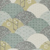 JAB Anstoetz  Okinawa Green Wallpaper