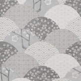 JAB Anstoetz  Okinawa Grey / Cream / Black Wallpaper