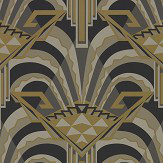 Zoffany Conway Antique Bronze Wallpaper