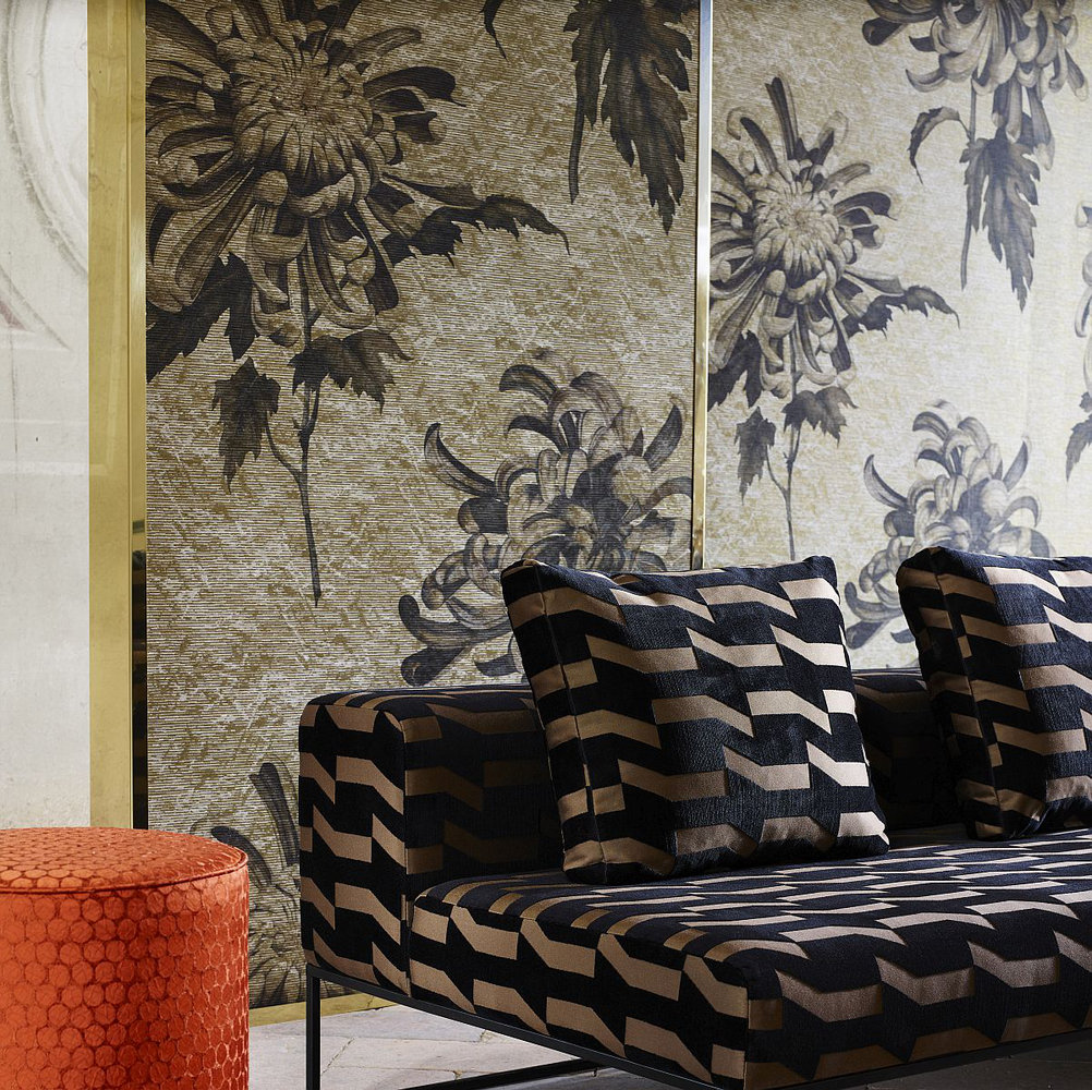Evelyn By Zoffany Antique Gold Olivine Wallpaper Direct