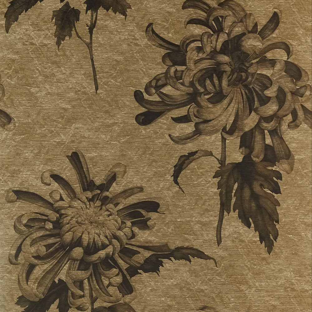 Evelyn Mural - Antique Gold / Olivine - by Zoffany