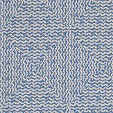 Nina Campbell Mourlet Blue Fabric - Product code: NCF4293-04
