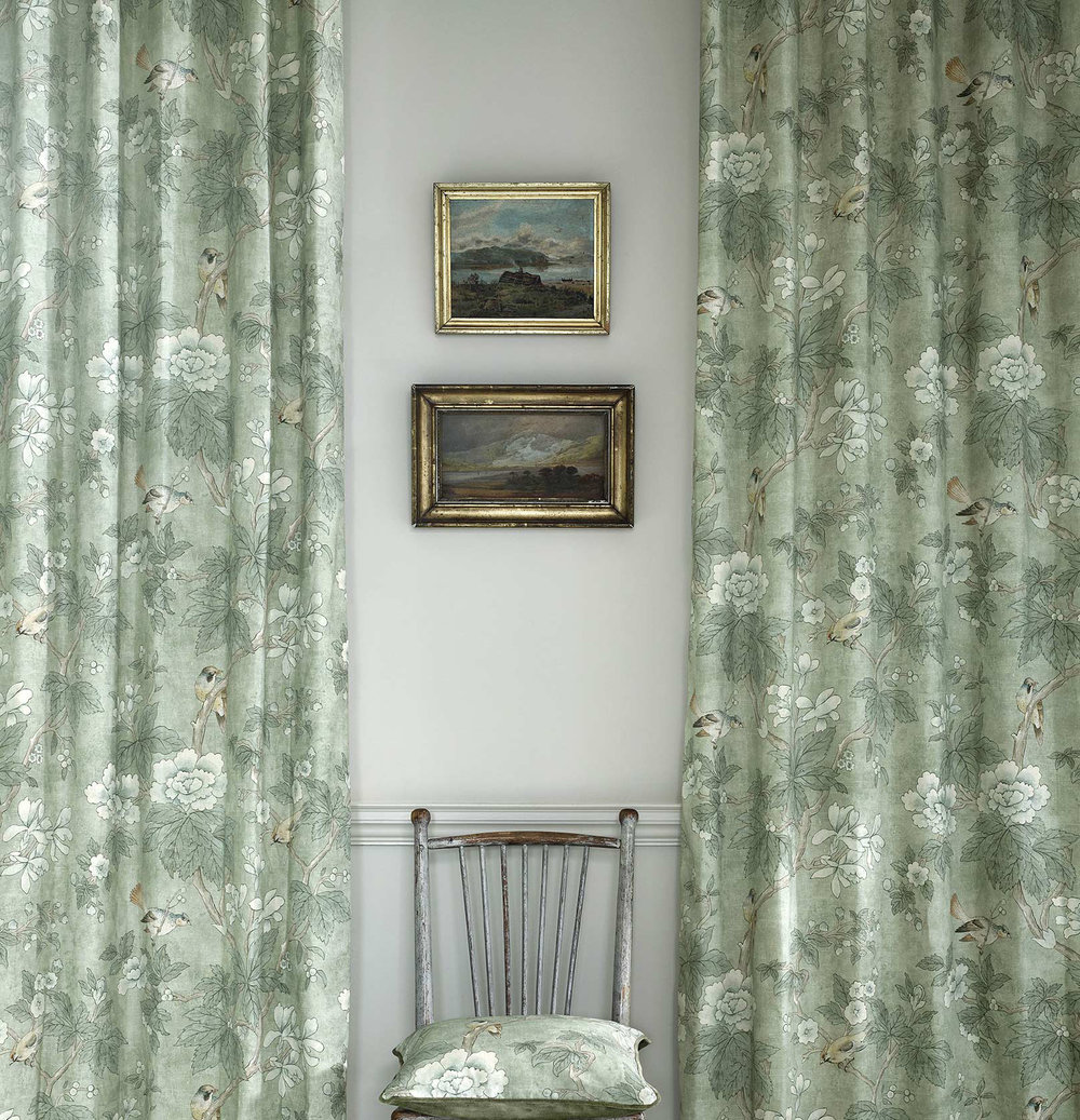 Sanderson Chiswick Grove Sage Fabric extra image