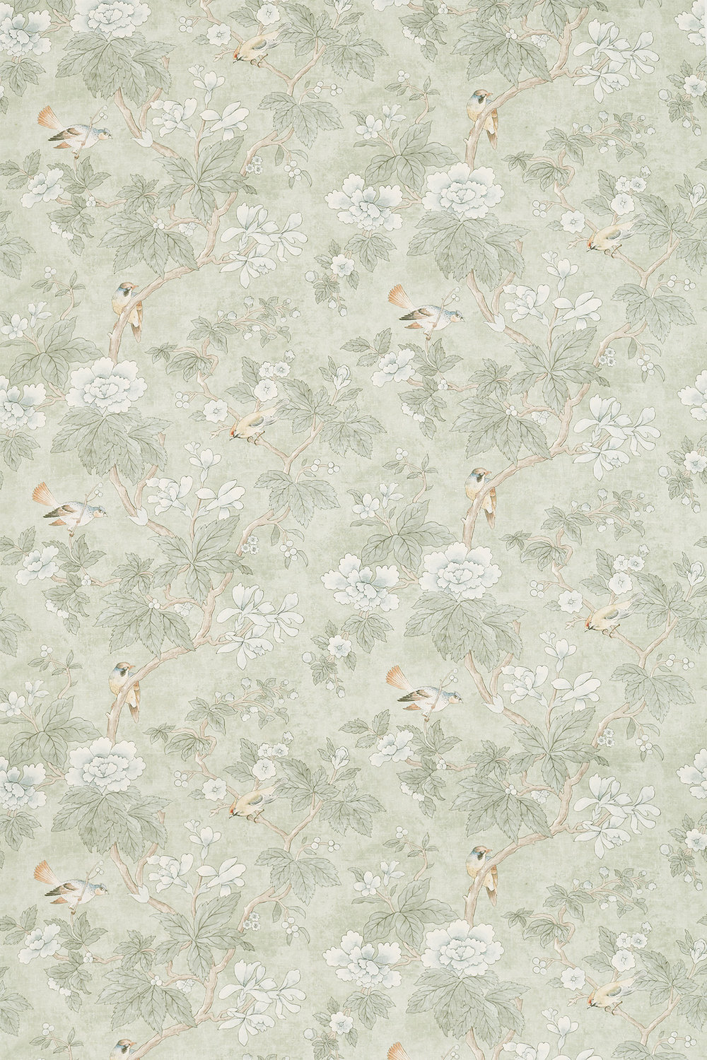 Sanderson Chiswick Grove Sage Fabric - Product code: 226370