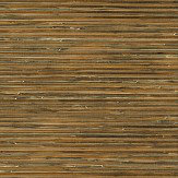 Brewers Faux Grasscloth Brown / Gold Wallpaper