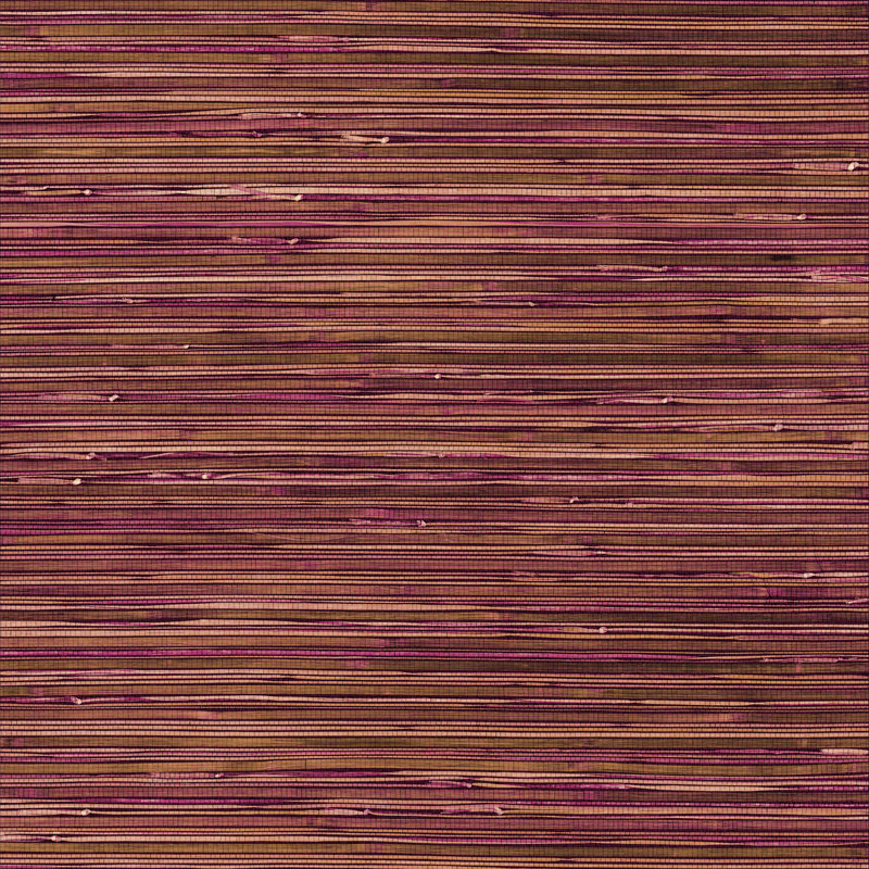 Brewers Faux Grasscloth Pink / Brown / Gold Wallpaper main image