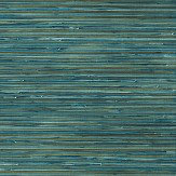 Brewers Faux Grasscloth Teal Wallpaper