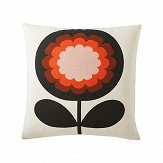 Orla Kiely 70's Frilly Flower cushion Persimmon