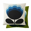 Orla Kiely Blossom Flower cushion Duck Egg/ Olive