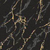 Brewers Marble Effect Black / Gold / Silver Wallpaper