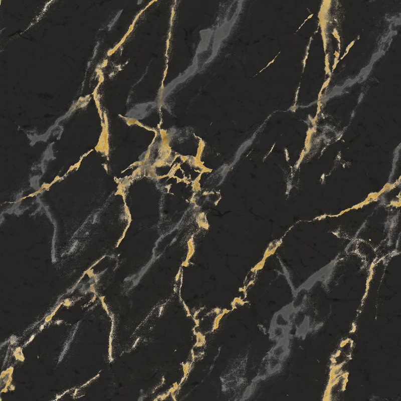 Brewers Marble Effect Black / Gold / Silver Wallpaper main image