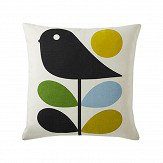 Orla Kiely Early Bird cushion Duck Egg