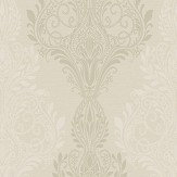 SketchTwenty 3 Sloane Damask Beads Iridescent Gold Wallpaper - Product code: SL00804