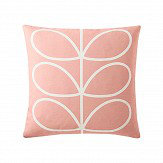 Orla Kiely Linear Stem cushion Pale Rose