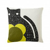 Orla Kiely Poppy Cat cushion Apple