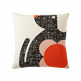 Orla Kiely Poppy Dog cushion Persimmon