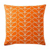 Orla Kiely Small Linear Stem cushion Persimmon