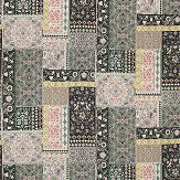 Matthew Williamson Folklore Black / Neutral / Mint Fabric - Product code: F7121-02