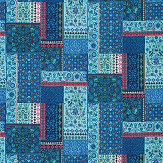 Matthew Williamson Folklore Persian Blue / Pink Fabric - Product code: F7121-04