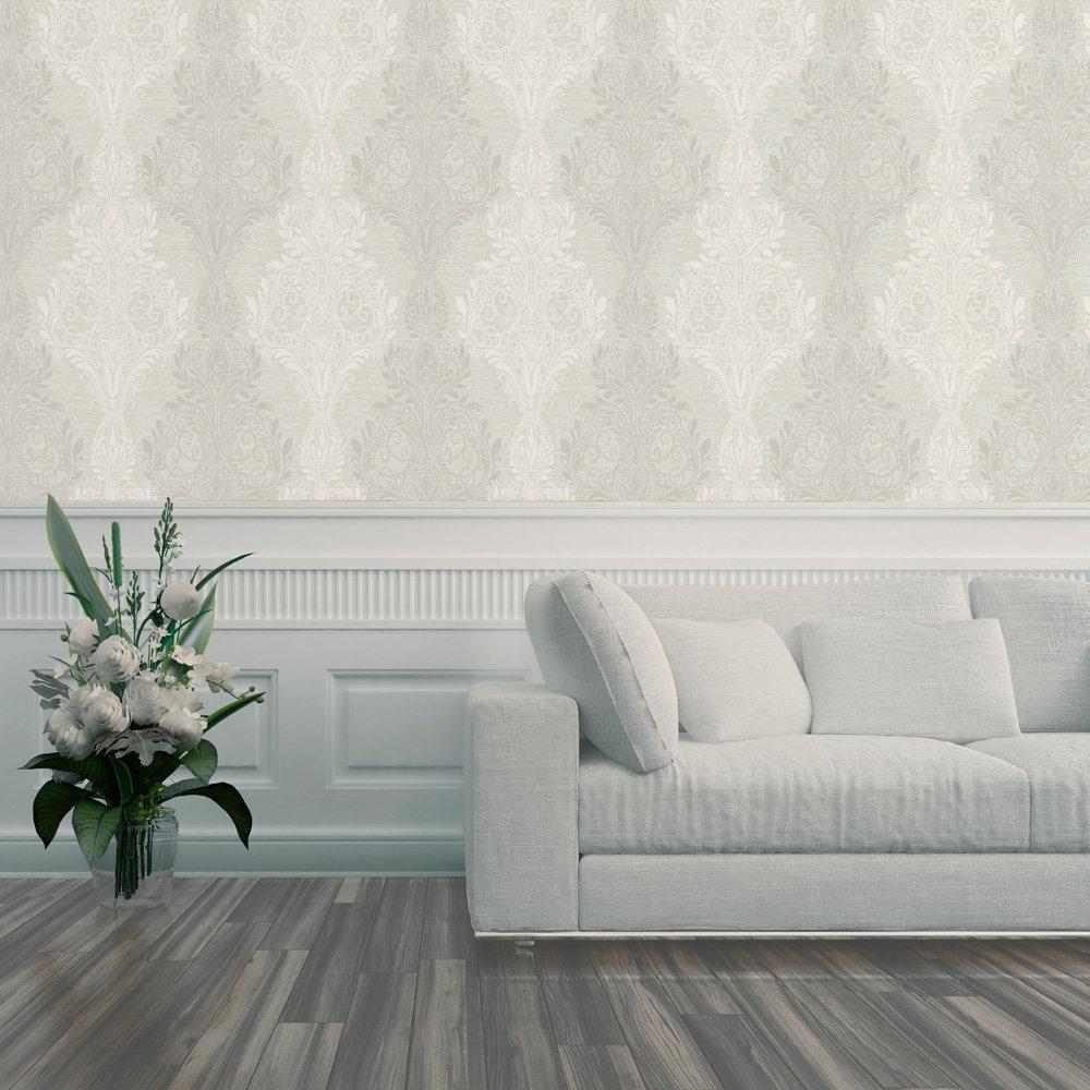 Sloane Damask Wallpaper - Taupe - by SketchTwenty 3