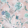 Matthew Williamson Rosanna Trellis Blush / Aqua Fabric - Product code: F7129-01
