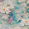 Matthew Williamson Water Lily Jade Fabric - Product code: F7131-02