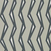 Scion Rayo Steel / Liquorice Wallpaper