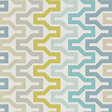 Scion Sioux Marine / Midnight / Kiwi Wallpaper