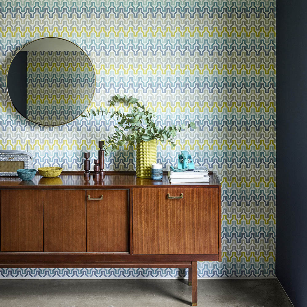 Scion Sioux Marine / Midnight / Kiwi Wallpaper - Product code: 111834