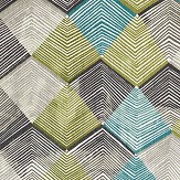 Harlequin Rhythm Teal / Linen / Charcoal Fabric - Product code: 120683