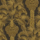 Cole & Son Hollywood Palm Charcoal / Gold Wallpaper