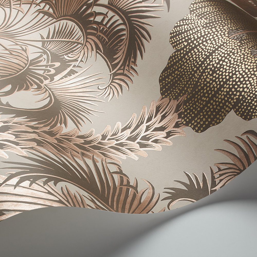 Hollywood Palm Wallpaper - Rose Gold - by Cole & Son