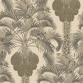 Cole & Son Hollywood Palm Silver / Charcoal Wallpaper