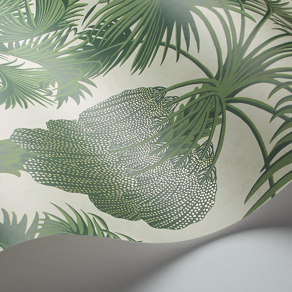 Hollywood Palm Wallpaper - Leaf Green - by Cole & Son