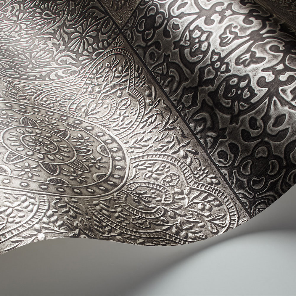 Bazaar Wallpaper - Pewter - by Cole & Son