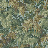 Cole & Son Royal Fernery Khaki / Print Room Blue Wallpaper - Product code: 113/3008