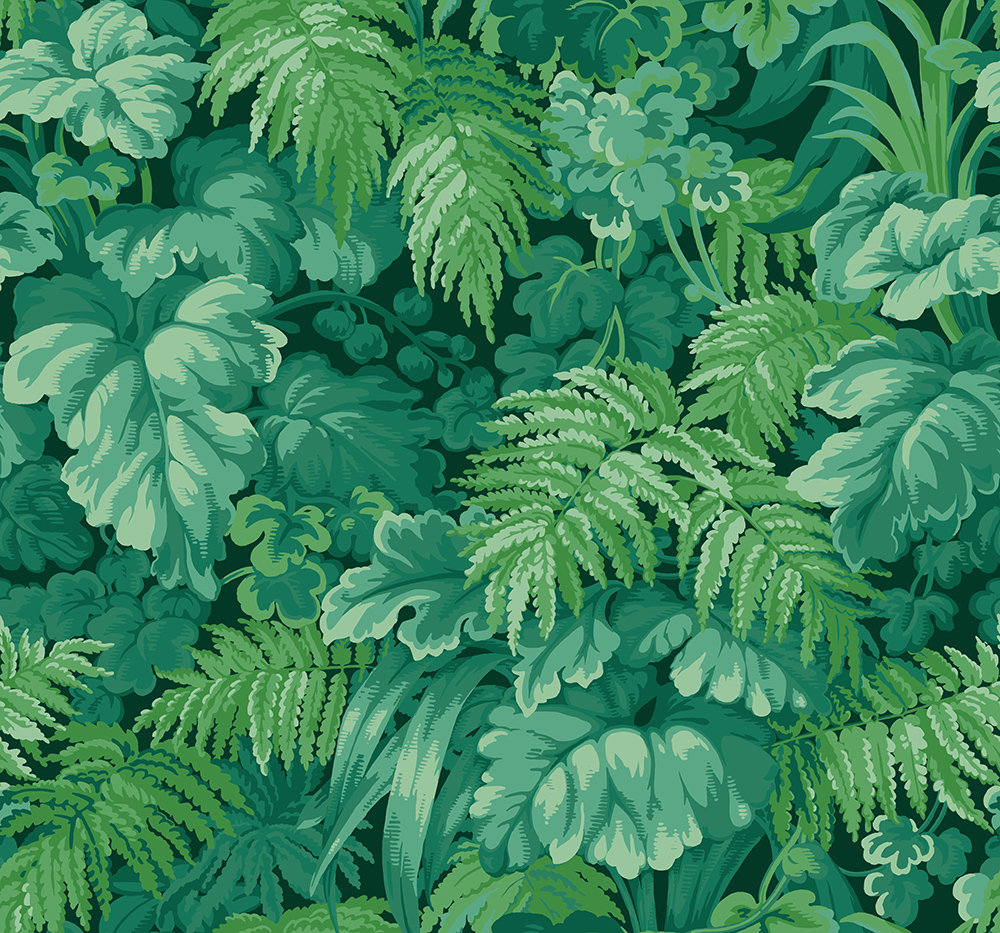 Cole & Son Royal Fernery Forest Green Wallpaper main image