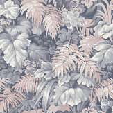 Cole & Son Royal Fernery Slate Blue / Blush Pink Wallpaper