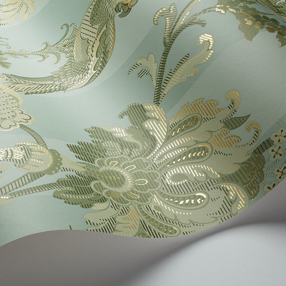 Cole & Son Zerzura Duck Egg / Olive Wallpaper - Product code: 113/8020