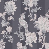 Cole & Son Zerzura Slate Grey / Blush Pink Wallpaper