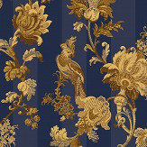 Cole & Son Zerzura Royal Blue / Gold Wallpaper
