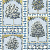Cole & Son Sultans Palace China Blue / Ochre Wallpaper